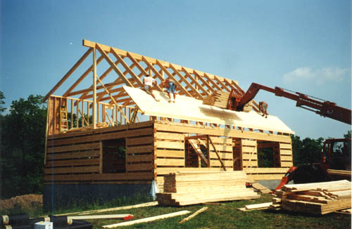 Log home floor plans log cabin kits appalachian log homes for Tongue and groove roof decking