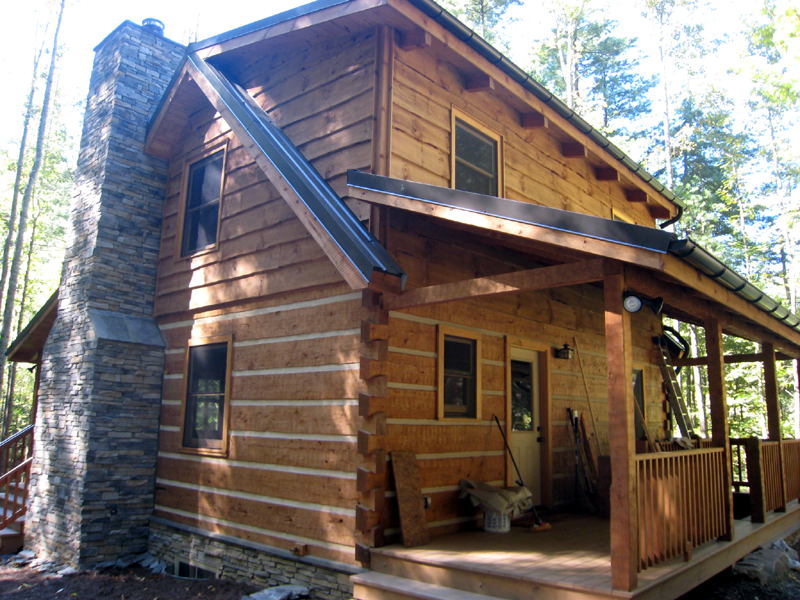 Complete dry in package kit appalachian log timber for Complete kit homes