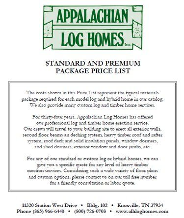 Perfect Standard Model Price List   Appalachian Log U0026 Timber Homes   Rustic Design  For Contemporary Living.