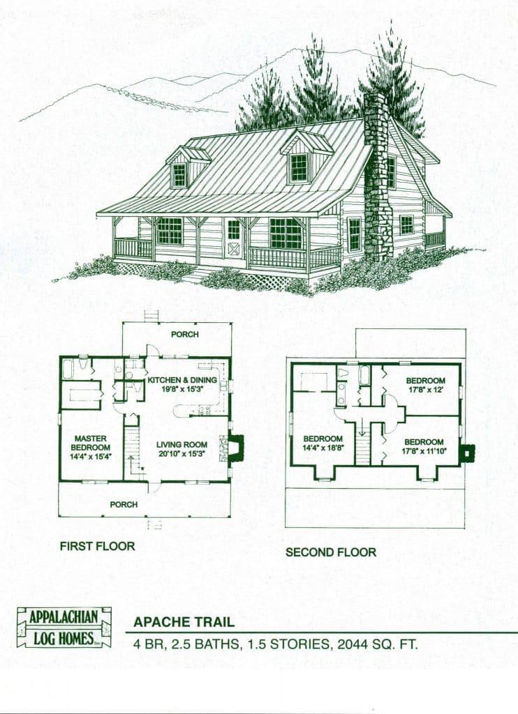 Apache Trail Appalachian Log Timber Homes Rustic