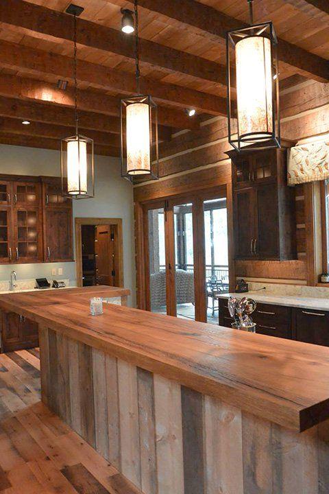 Informal elegance appalachian log timber homes for Room design elements