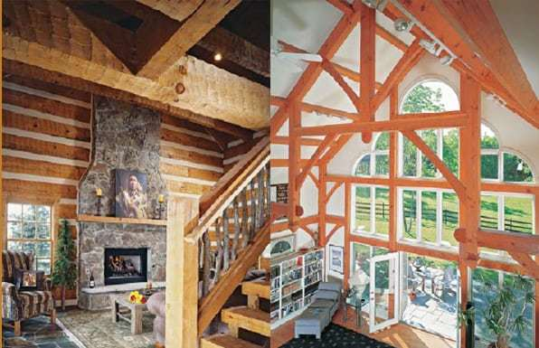 The Difference Between Log And Timber Homes   Appalachian Log U0026 Timber Homes    Rustic Design For Contemporary Living.