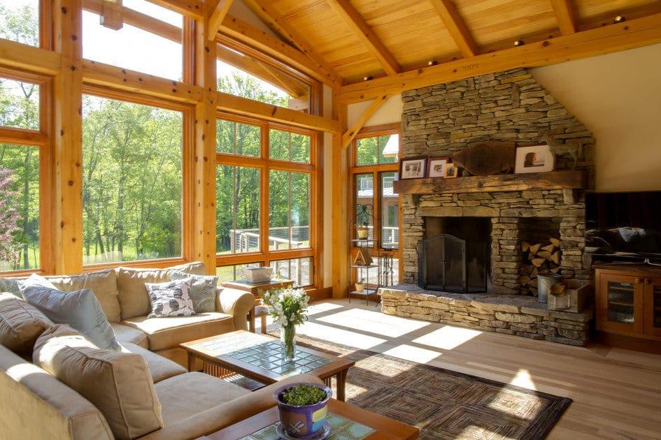 Timber Frame Window Treatments - Appalachian Log & Timber Homes ...