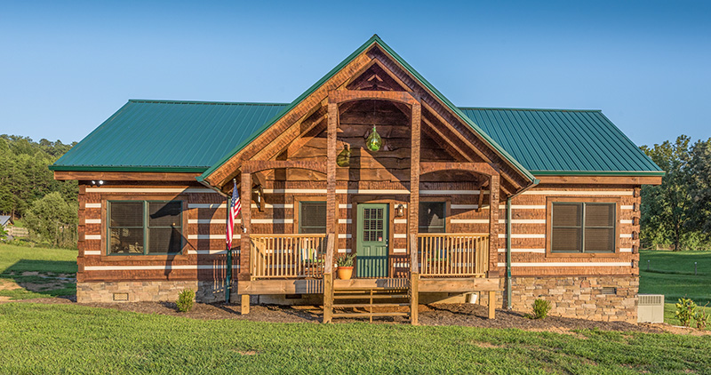 Pine creek appalachian log timber homes rustic for Log home plans tennessee