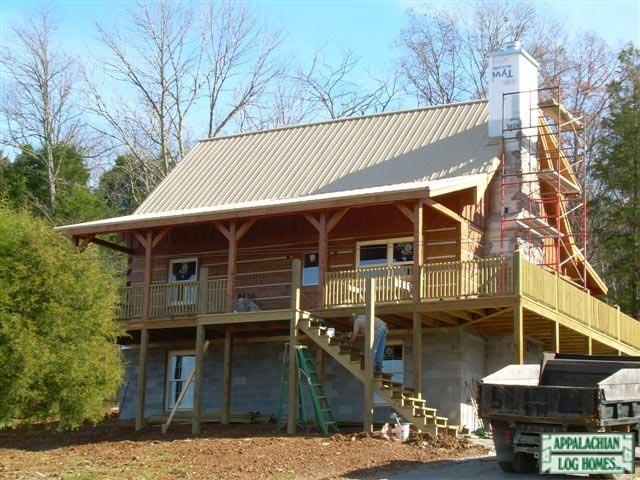 Stone Mountain Appalachian Log Timber Homes Rustic