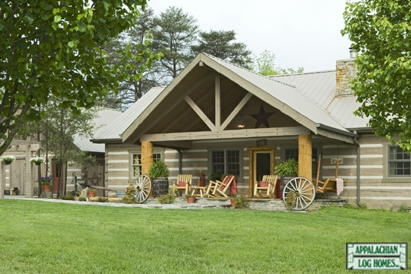 Clark mountain appalachian log timber homes rustic for Appalachian house plans