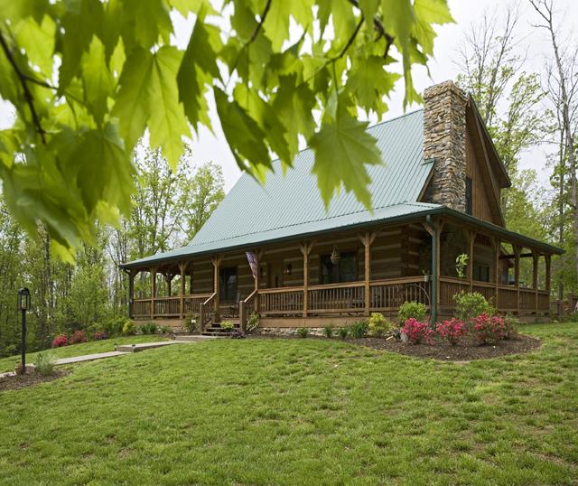 Hampton Appalachian Log Timber Homes Rustic Design