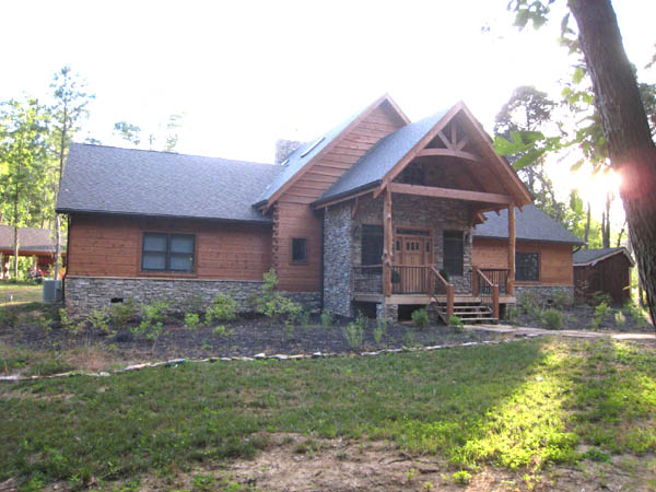 Hybrid Appalachian Log Timber Homes Rustic Design